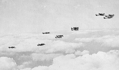 Vics of Hurricanes from RAF 242