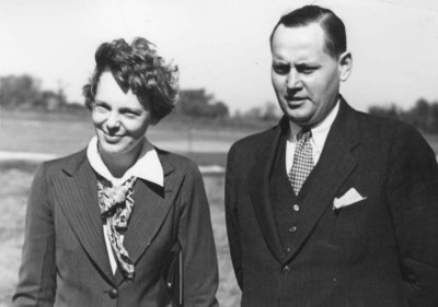Amelia Earhart on Amelia Earhart And Husband Geo Rg E Palmer Putnam
